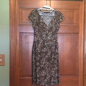 Leopard print dress size 4